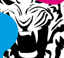 Angry Tiger Graffiti Sticker