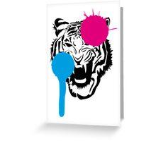 Angry Tiger Graffiti Greeting Card