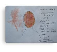 Study for Pizza Face 2 Canvas Print