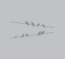 Birds on a wire by jazzydevil