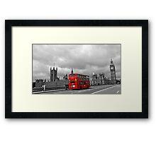 Red bus in London Framed Print