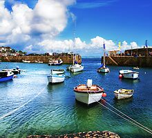 Mousehole Harbour by Matt Thorning