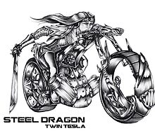 Steel Dragons - Twin Tesla by Tim Crook