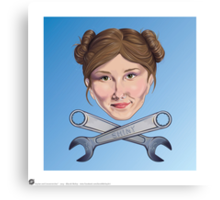 Kaylee and Crosswrenches Canvas Print