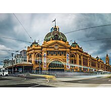 Rush Hour at Flinders Station Photographic Print
