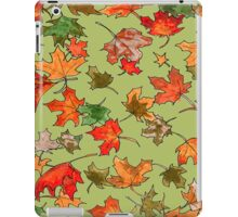 Hand drawn fall leaves pattern iPad Case/Skin