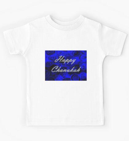 Happy Chanukah Swirls Kids Tee