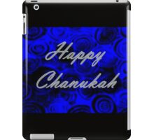 Happy Chanukah Swirls iPad Case/Skin