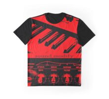 Synth Keyboard Sound Modify Graphic T-Shirt