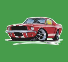 Ford Mustang (1967) Red (White Stripes) Kids Tee