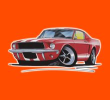 Ford Mustang (1967) Red (White Stripes) Kids Clothes