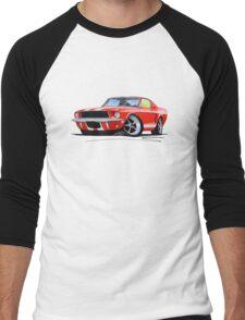 Ford Mustang (1967) Red (White Stripes) Men's Baseball ¾ T-Shirt