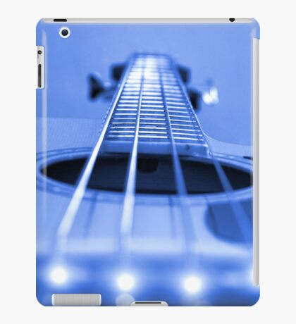 Bass Guitar Blue Tone iPad Case/Skin