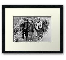 Ma Li Peng Pass, Ha Giang, Vn... Framed Print