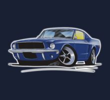 Ford Mustang (1967) Blue Kids Tee