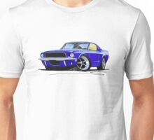 Ford Mustang (1967) Blue Unisex T-Shirt