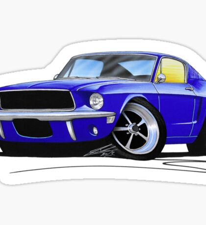 Ford Mustang (1967) Blue Sticker