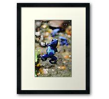 Poison Frog Screen Cling Framed Print