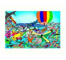 Aeronautical rush hour Art Print