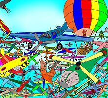 Aeronautical rush hour by David Fraser