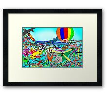 Aeronautical rush hour Framed Print