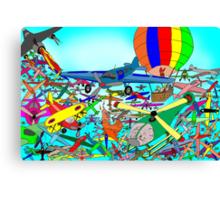 Aeronautical rush hour Canvas Print