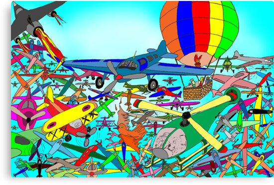 Aeronautical rush hour by David Fraser
