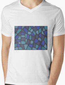 Blue Reptile Mens V-Neck T-Shirt