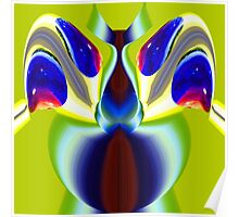 contemporary techno art 1039 Poster