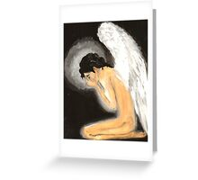 Crying angel Greeting Card