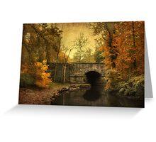 Bridge to Autumn Greeting Card