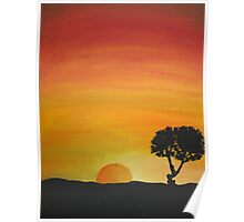 Sunsets And Silhouettes Poster