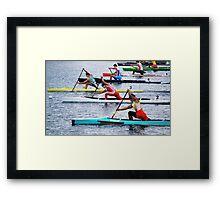 Rowing Race Framed Print