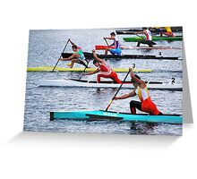 Rowing Race Greeting Card