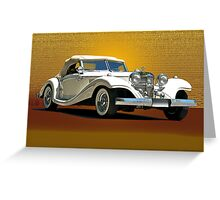 1937 Mercedes 540 SSK  Greeting Card