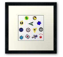 Superhero symbols Framed Print
