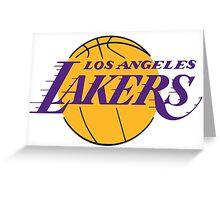 LA Lakers Greeting Card
