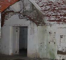 Fort Warren, Battery Stevenson, Magazine Hoist Room by CapeCodGiftShop