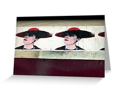 Red Hat Ladies of Stokes Croft Greeting Card