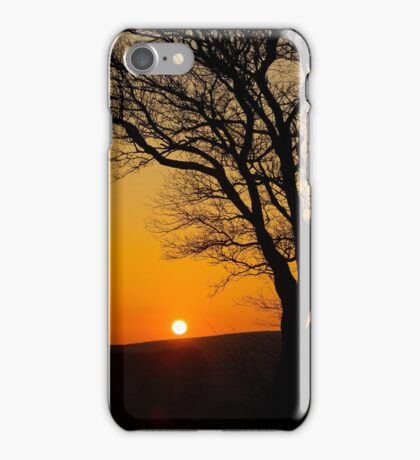 Sunset Silhouette In Derbyshire iPhone Case/Skin