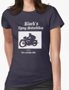 Black's Flying Motorbikes Womens Fitted T-Shirt