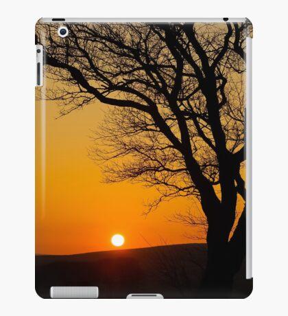 Sunset Silhouette In Derbyshire iPad Case/Skin