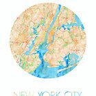NYC in Watercolor by thebiscuitgirl