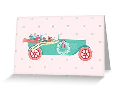 Birthday Teddy Car Greeting Card