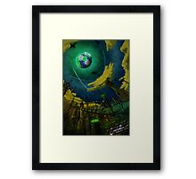 Alien World Concept Framed Print