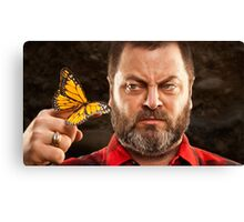 Offerman & Butterfly Canvas Print