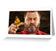 Offerman & Butterfly Greeting Card