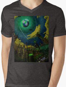 Alien World Concept Mens V-Neck T-Shirt