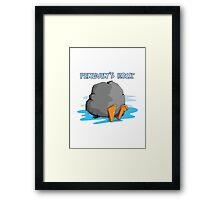 Penguin's Rock! Framed Print