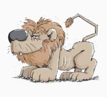 Fuzzy Lion Kids Tee